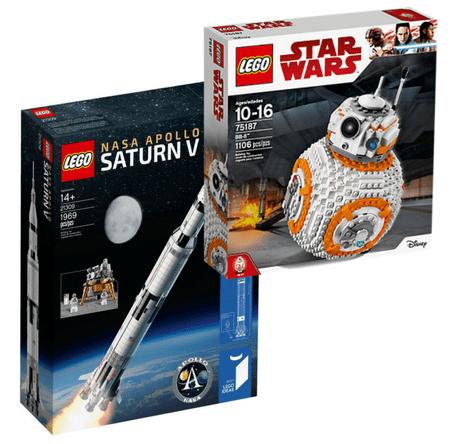 LEGO_BB8 and LEGO Saturn V
